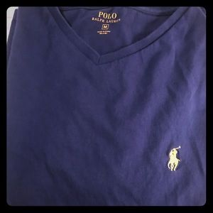 Blue Ralph Polo T Shirt - Medium V-Neck